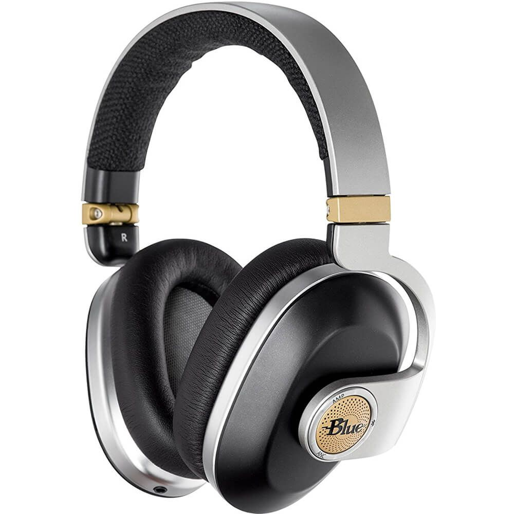 Blue Microphones Satellite Wireless Over-Ear Headphones Noise Cancelling Black