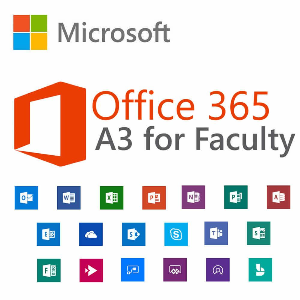 Microsoft Office 365 A3 for Faculty Annual Subscription (School License)