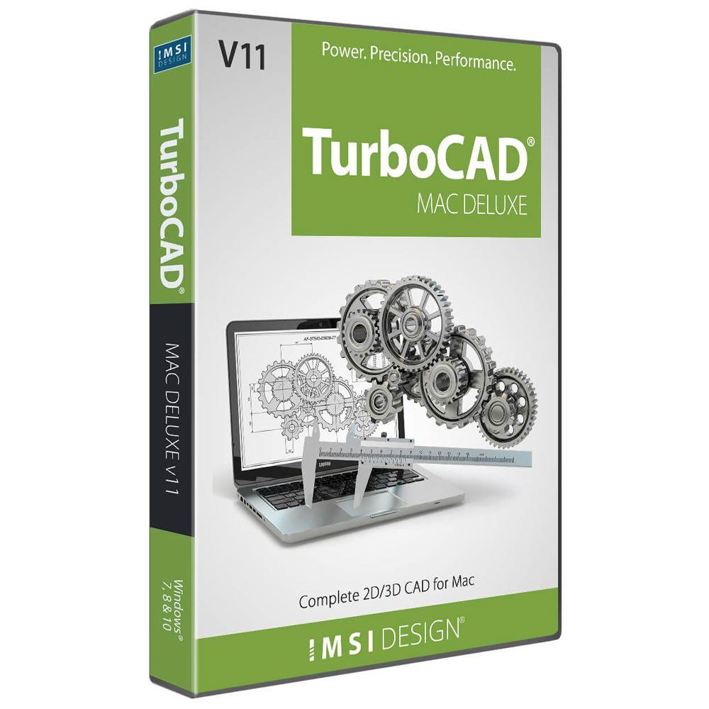 IMSI TurboCAD Mac Deluxe 2D/3D v11 (School License)
