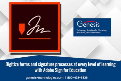 Digitize forms and signature processes at every level of learning with Adobe Sign for Education