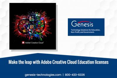 Make the leap with Adobe Creative Cloud Education licenses