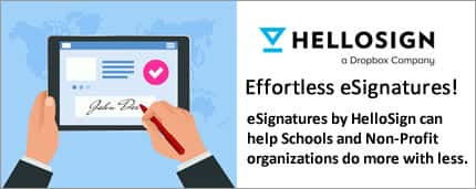 HelloSign eSignatures for Education and Non-Profit