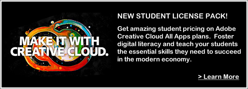 Adobe Creative Cloud Student License Pack for Universities and Community Colleges