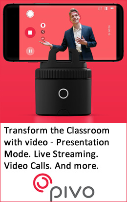 Pivo Pod Black is the ideal companion for capturing video in the classroom